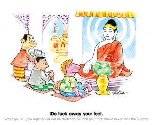 Bouddha et plante de pied - 2